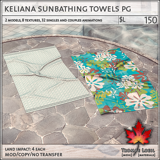 keliana towels PG L150