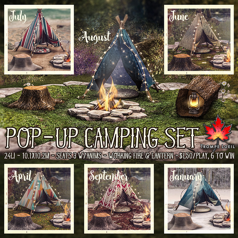 Pop-Up Camping Sets at The Arcade June