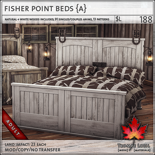 fisher point beds Adult L188