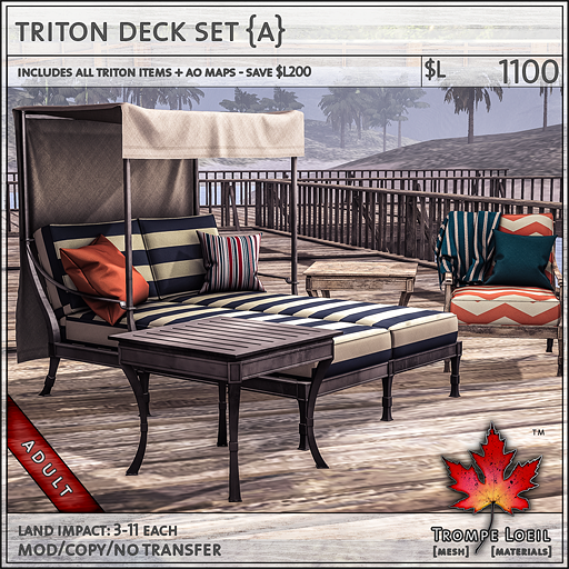 triton deck set Adult L1100