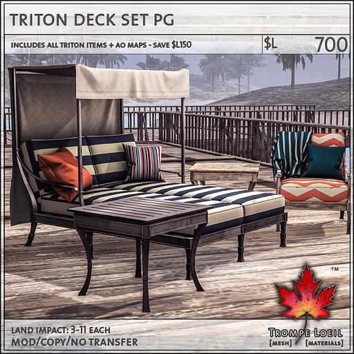 triton deck set PG L700
