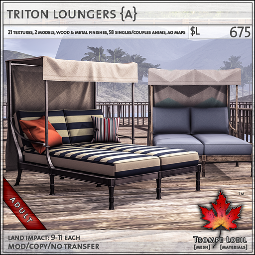 triton loungers Adult L675