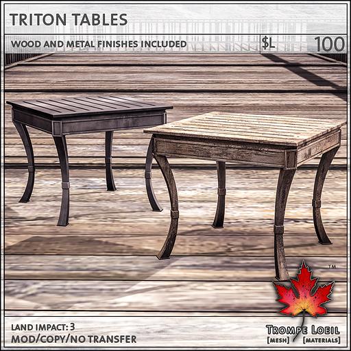 triton tables L100