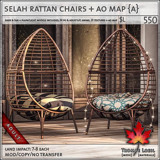 selah rattan chairs Adult L550