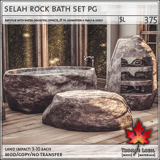 selah rock bath set PG L375
