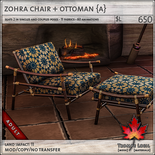 zohra chair Adult L650