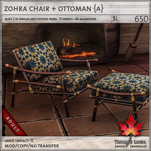zohra chair Adult L650