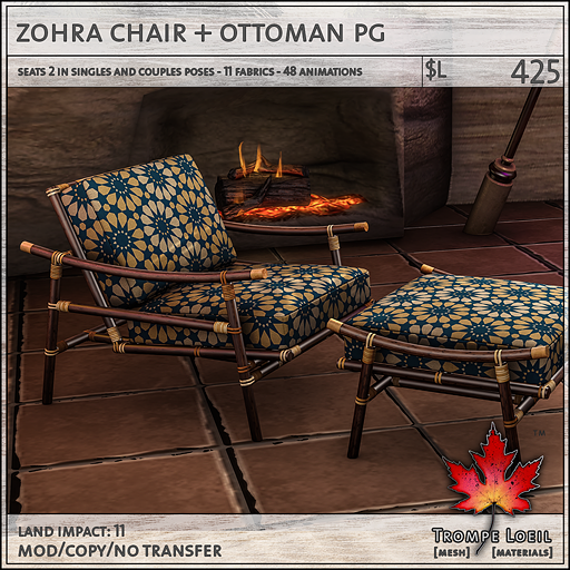 zohra chair PG L425