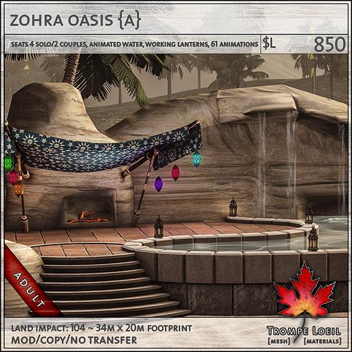 zohra oasis Adult L850