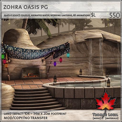 zohra oasis PG L550