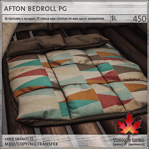 afton bedroll PG L450