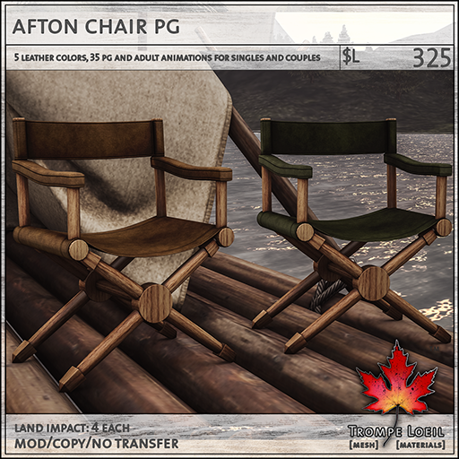 afton chairs PG L325