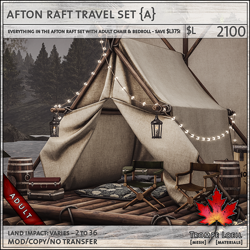 afton raft travel set Adult L2100