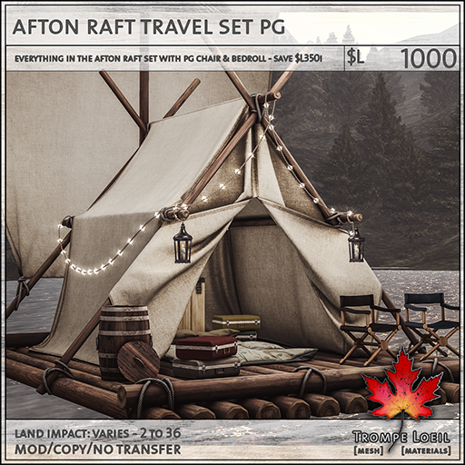 afton raft travel set PG L1000