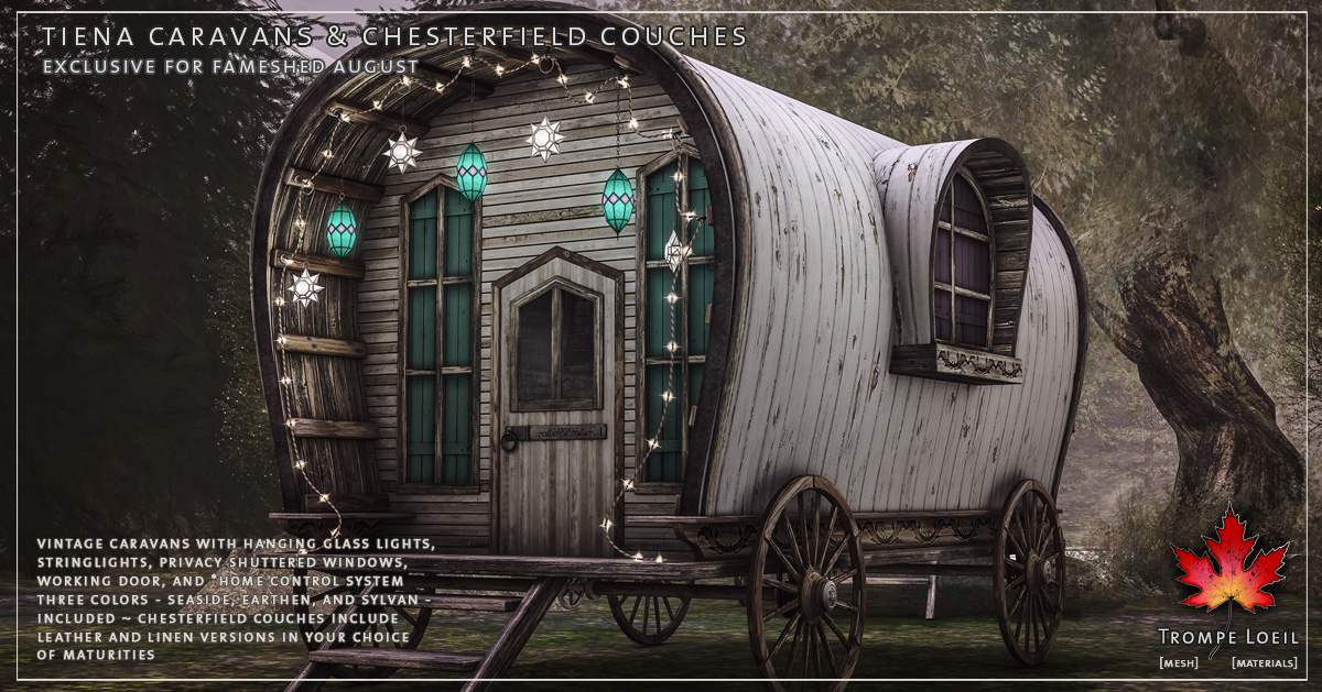Tiena Caravans & Chesterfield Couches for FaMESHed August