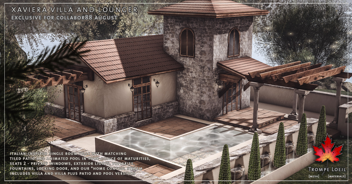 Xaviera Villa and Lounger for Collabor88 August