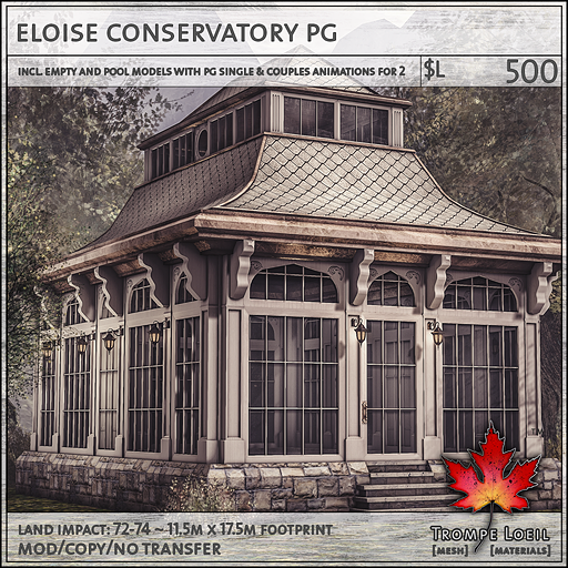 eloise conservatory PG L500