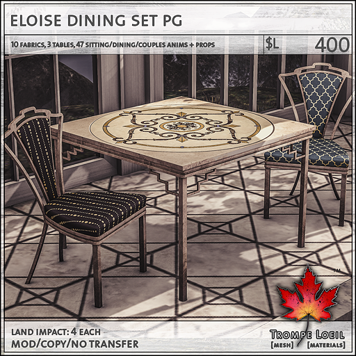 eloise dining set PG L400