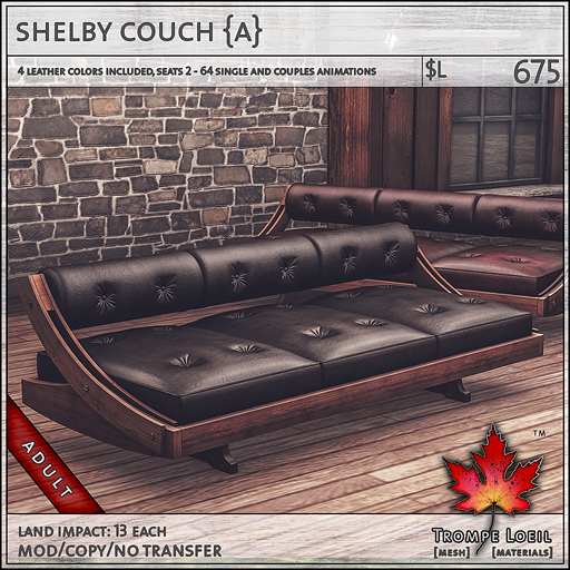 shelby couch Adult L675
