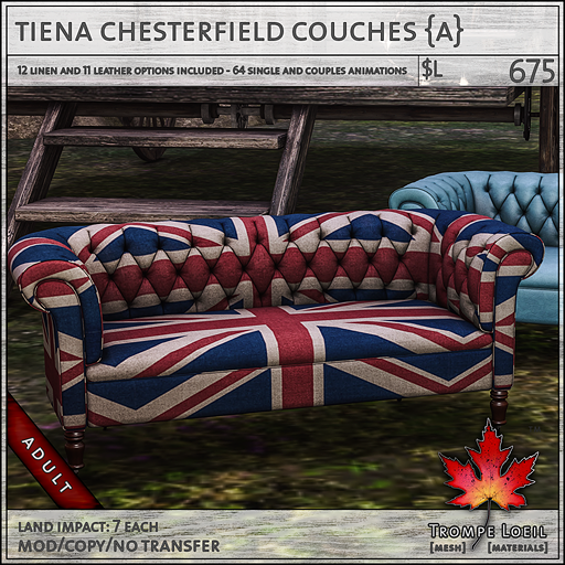 tiena chesterfield couches Adult L675
