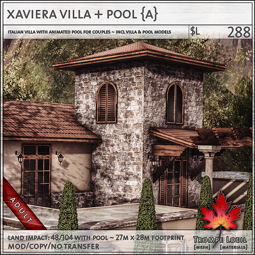 xaviera villa Adult sales L288