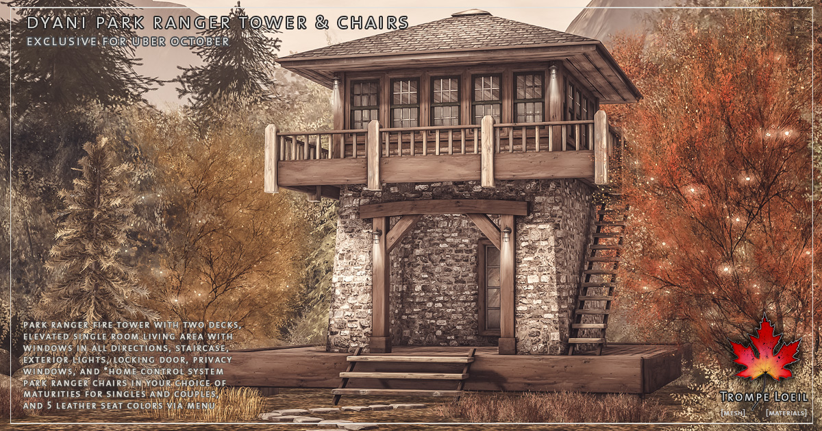 Dyani Park Ranger Tower & Chair for Uber October