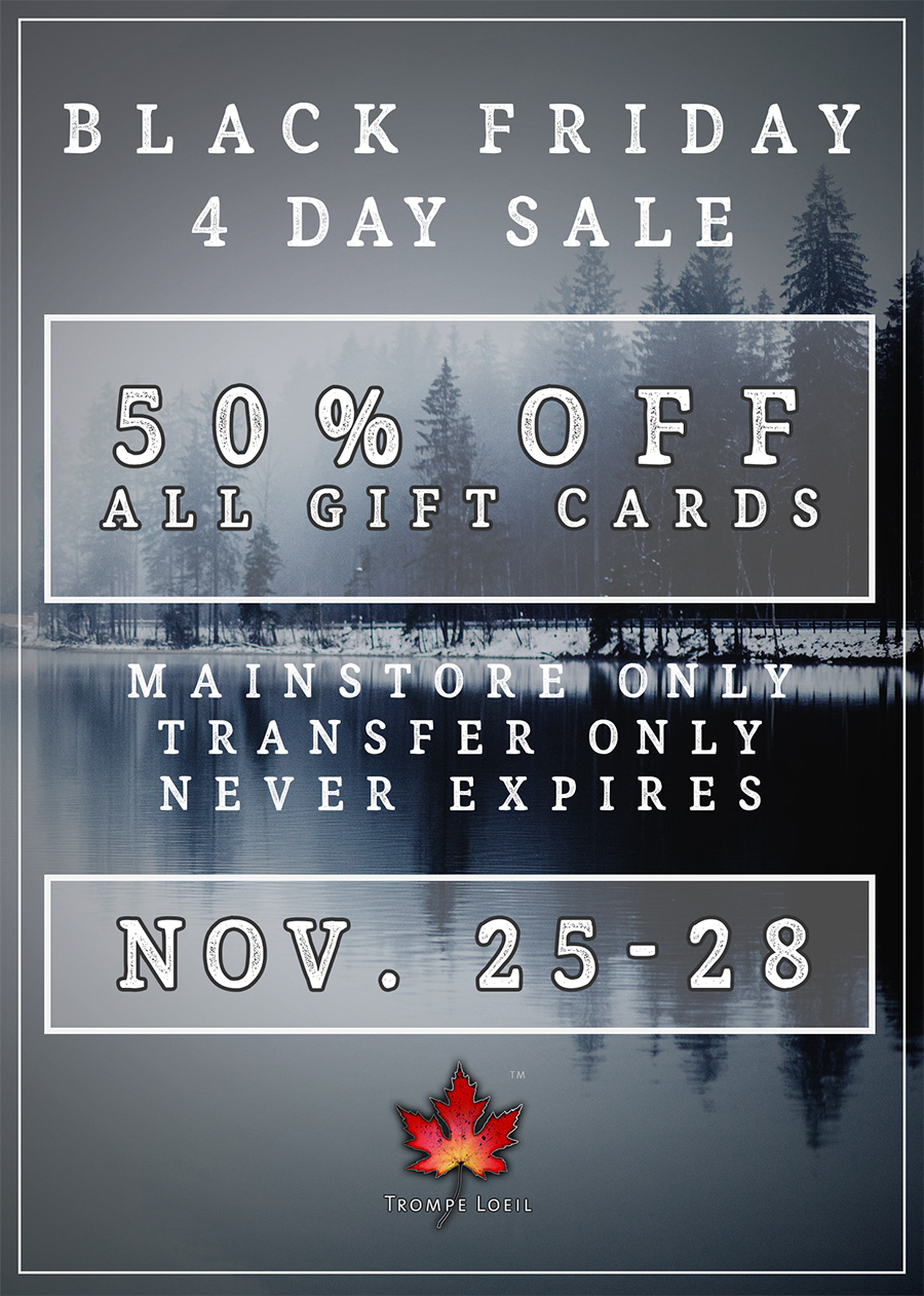 Black Friday 50% Off Gift Card Sale November 25-28