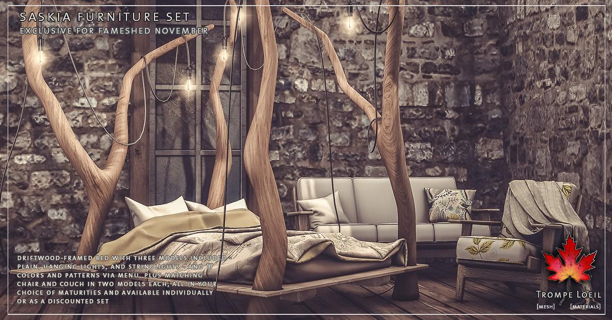 Saskia Furniture Set for FaMESHed November