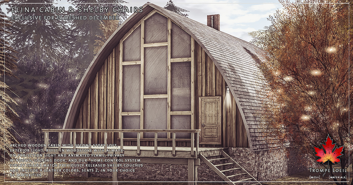 Elina Cabin and Shelby Chair for FaMESHed December