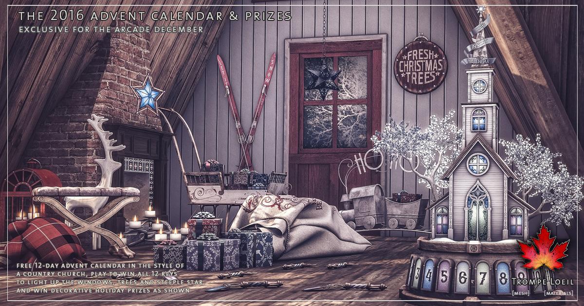 2016 Advent Calendar Gatcha at The Arcade