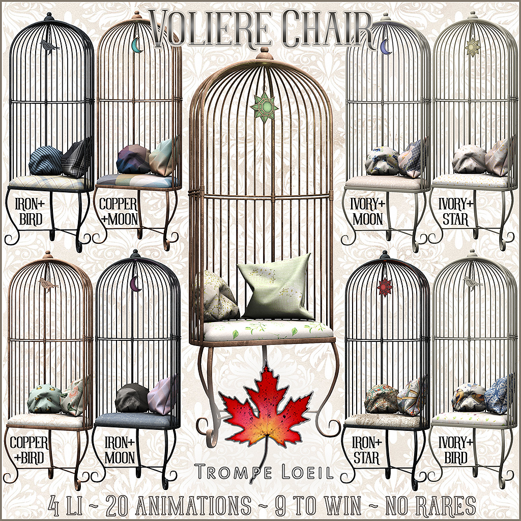 Voliere Chair for The Arcade June