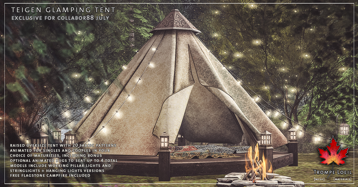 Teigen Glamping Tent for Collabor88 July