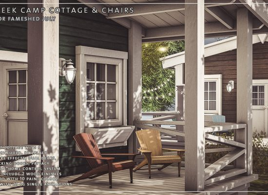 Trompe loeil furniture homes for virtual living Cottages of camp creek