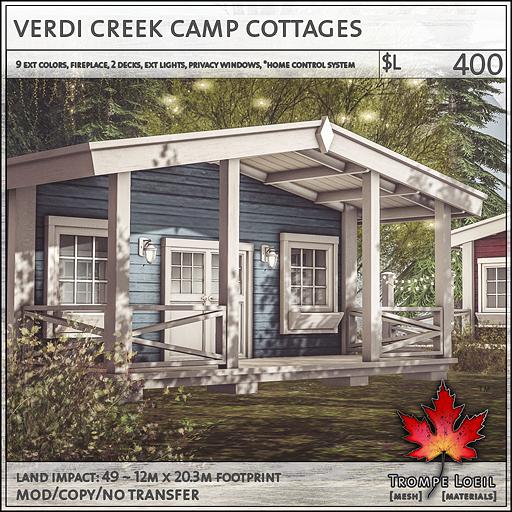 Verdi Creek Camp Cottages L400 Trompe Loeil
