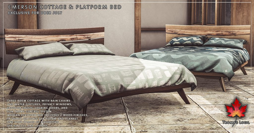Incredible Emerson Cottage Platform Bed Bench For Uber July Trompe Pdpeps Interior Chair Design Pdpepsorg