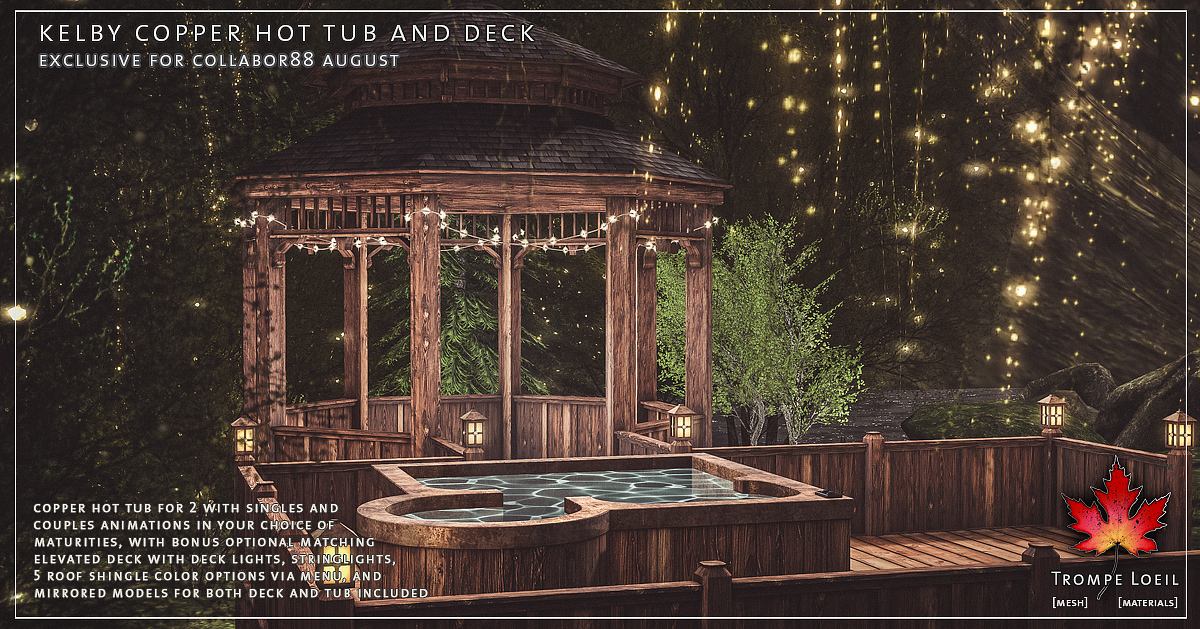 Kelby Copper Hot Tub and Deck for Collabor88 August