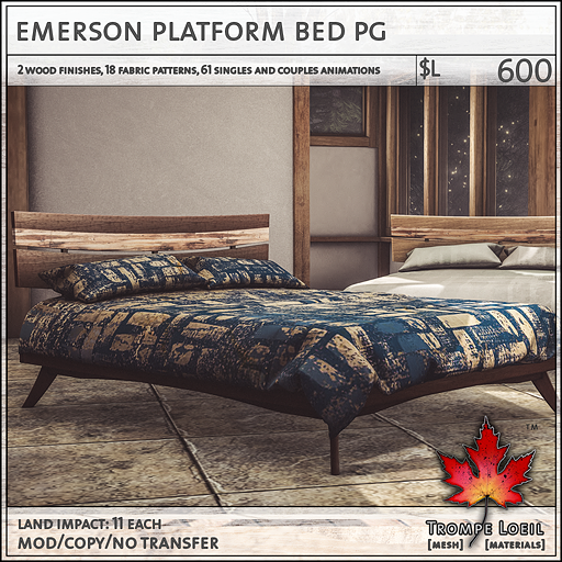 Awe Inspiring Emerson Cottage Platform Bed Bench For Uber July Trompe Pdpeps Interior Chair Design Pdpepsorg