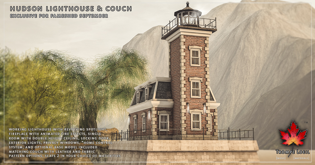 Hudson Lighthouse & Couch for FaMESHed September