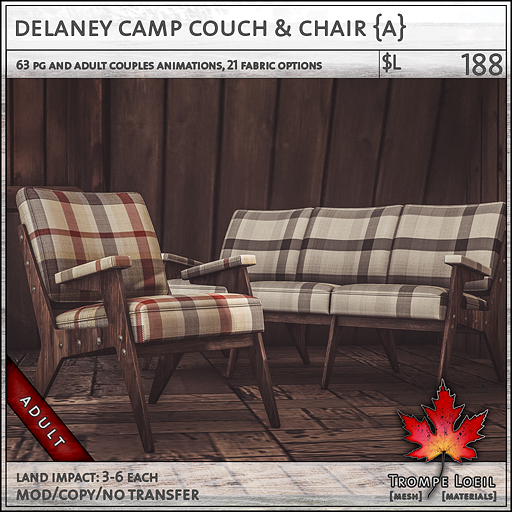 Delaney Chair Couch Adult L188