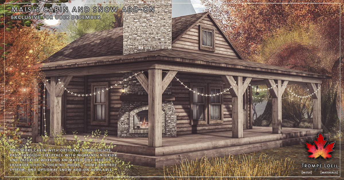 Maisie Cabin and Snow Add-On for Uber December