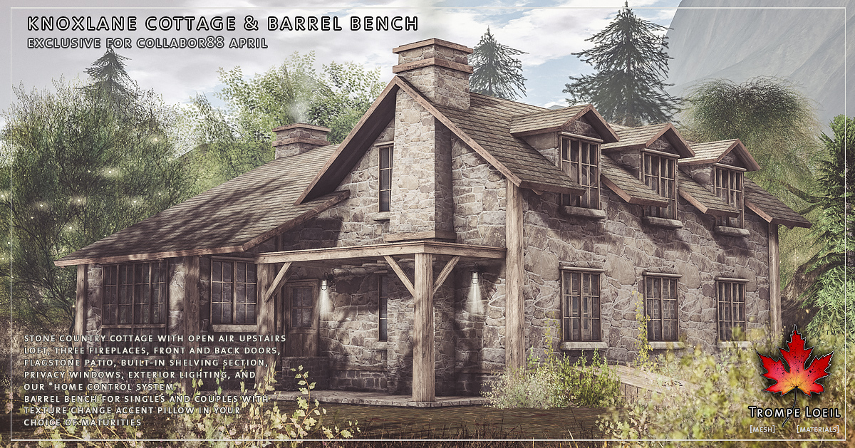 Knoxlane Cottage & Barrel Bench for Collabor88 April