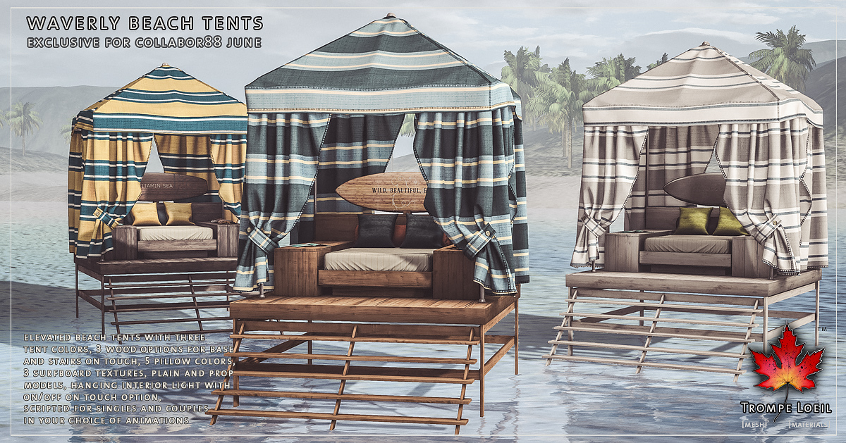 Waverly Beach Tents for Collabor88 June