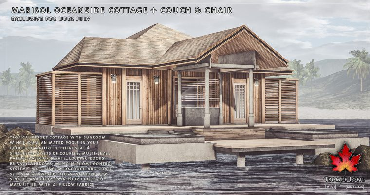 Marisol Oceanside Cottage + Couch & Chair for Uber July