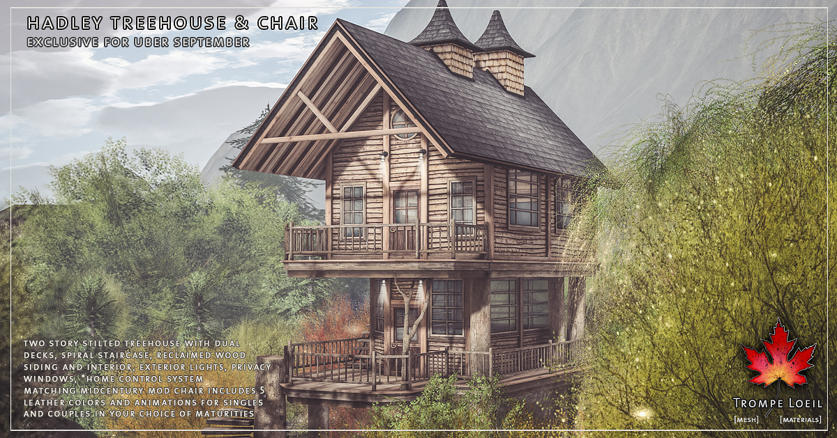 Hadley Treehouse & Chair for Uber September