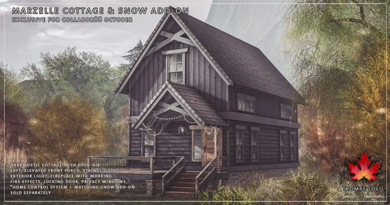 Marzelle Cottage & Snow Add-On For Collabor88 October
