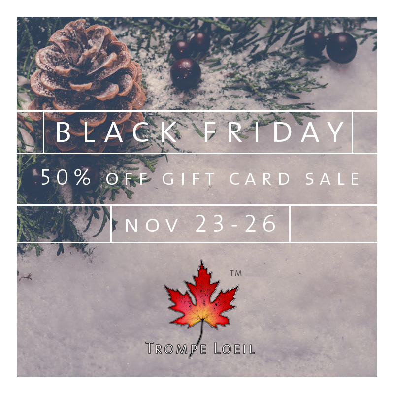 Black Friday 2018 50% Off Gift Card Sale Nov 23-26