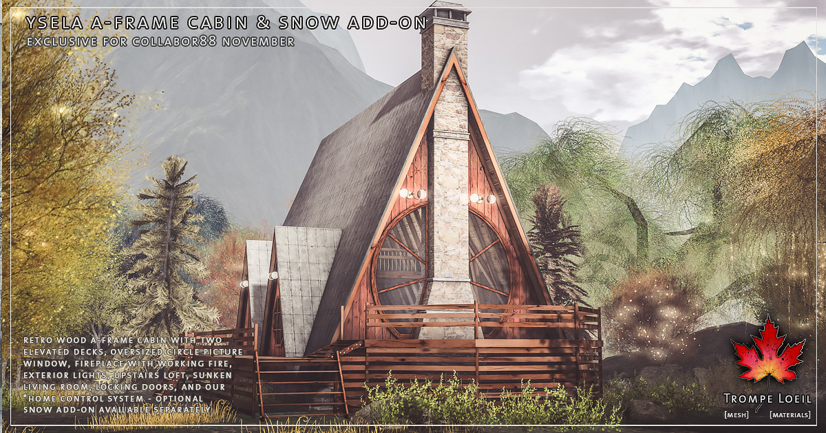 Ysela A-Frame Cabin & Snow Add-On for Collabor88 November