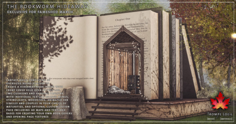 Bookworm Hideaway and Customization Pack for FaMESHed March