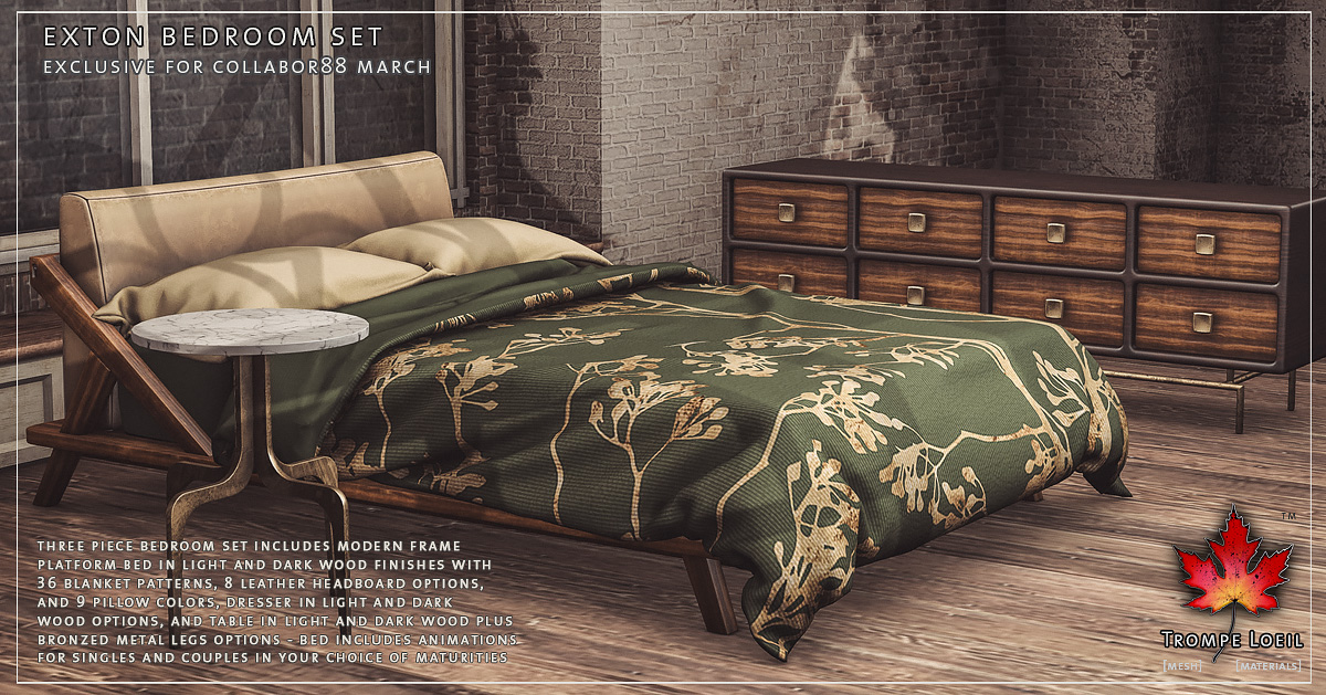Exton Bedroom Set for Collabor88 March