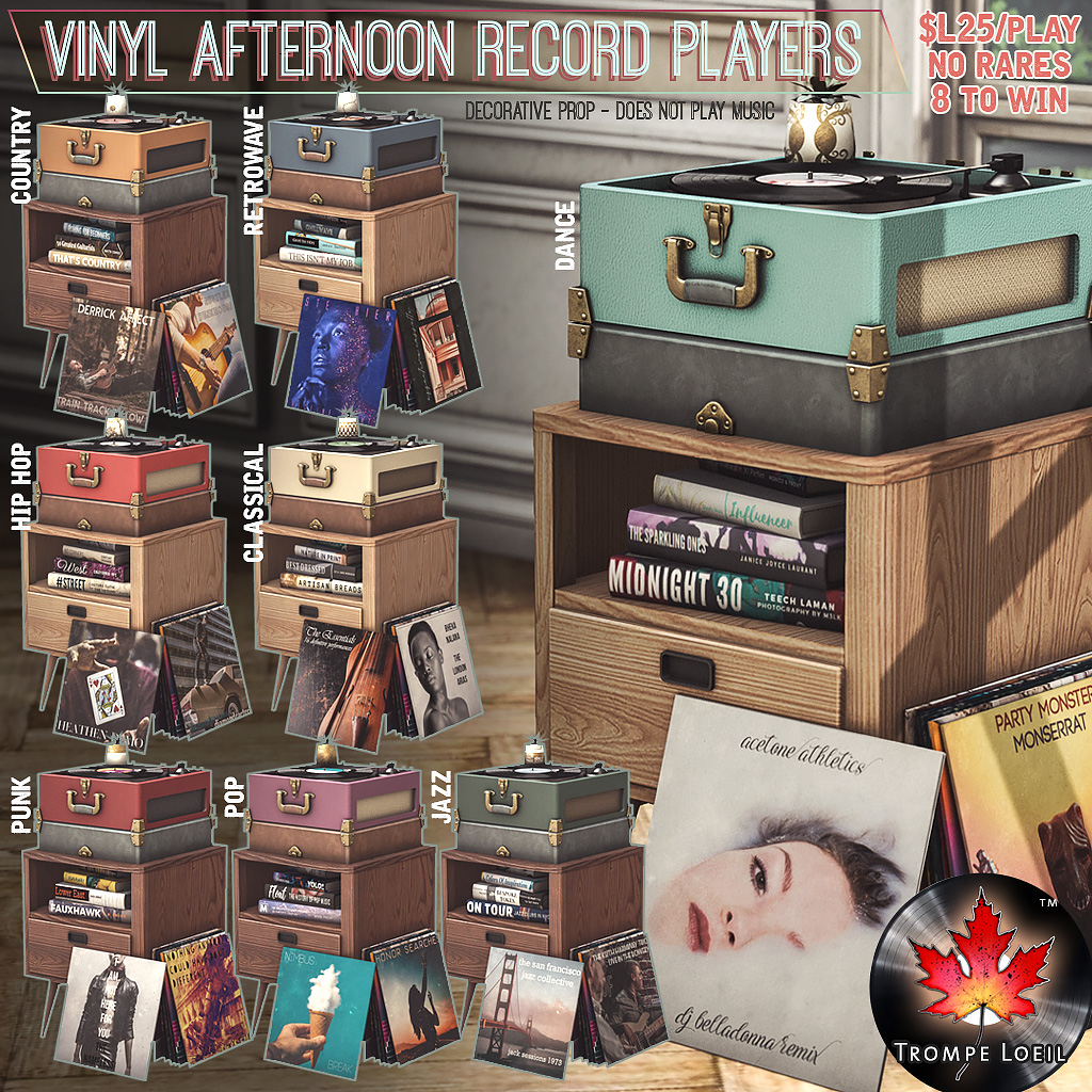 Vinyl Afternoon Record Player Gacha for The Arcade March